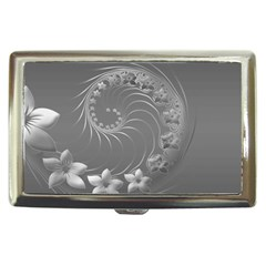 Gray Abstract Flowers Cigarette Money Case