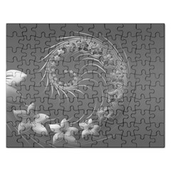 Gray Abstract Flowers Jigsaw Puzzle (rectangle)
