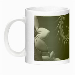 Gray Abstract Flowers Glow In The Dark Mug
