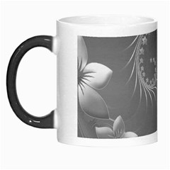 Gray Abstract Flowers Morph Mug