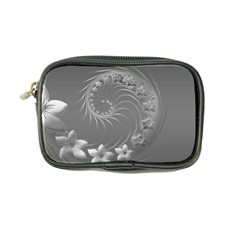 Gray Abstract Flowers Coin Purse
