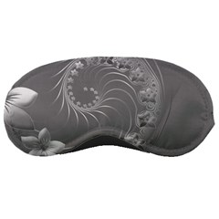 Gray Abstract Flowers Sleeping Mask