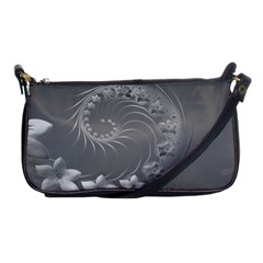 Gray Abstract Flowers Evening Bag