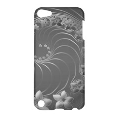 Gray Abstract Flowers Apple Ipod Touch 5 Hardshell Case