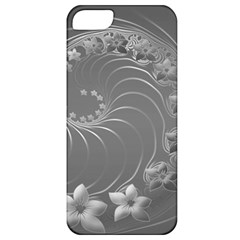 Gray Abstract Flowers Apple Iphone 5 Classic Hardshell Case