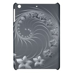 Gray Abstract Flowers Apple iPad Mini Hardshell Case