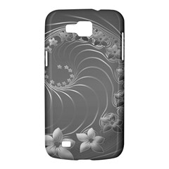 Gray Abstract Flowers Samsung Galaxy Premier I9260 Hardshell Case