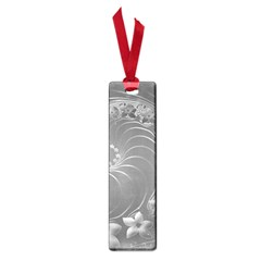Gray Abstract Flowers Small Bookmark