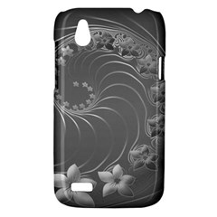 Gray Abstract Flowers HTC T328W (Desire V) Case