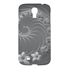 Gray Abstract Flowers Samsung Galaxy S4 I9500 Hardshell Case