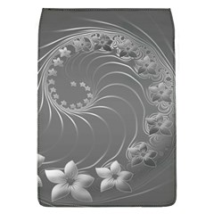 Gray Abstract Flowers Removable Flap Cover (Large)
