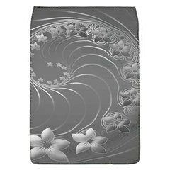 Gray Abstract Flowers Removable Flap Cover (Small)