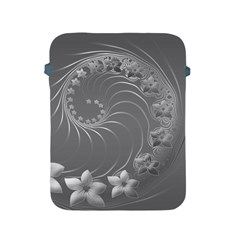 Gray Abstract Flowers Apple iPad 2/3/4 Protective Soft Case