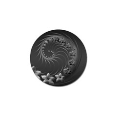 Dark Gray Abstract Flowers Golf Ball Marker 10 Pack