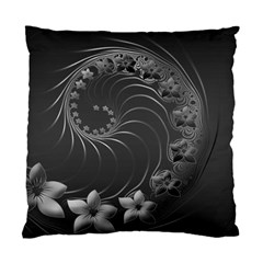 Dark Gray Abstract Flowers Cushion Case (one Side)