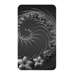 Dark Gray Abstract Flowers Memory Card Reader (Rectangular)
