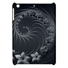 Dark Gray Abstract Flowers Apple Ipad Mini Hardshell Case