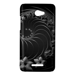 Dark Gray Abstract Flowers HTC X920E(Butterfly) Case