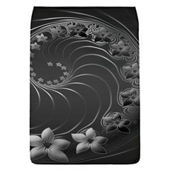 Dark Gray Abstract Flowers Removable Flap Cover (Small)