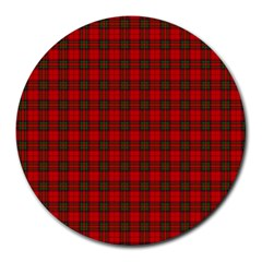 The Clan Steward Tartan 8  Mouse Pad (Round)
