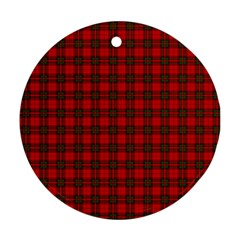 The Clan Steward Tartan Round Ornament