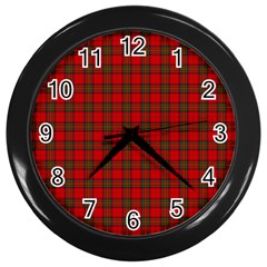 The Clan Steward Tartan Wall Clock (Black)