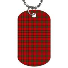 The Clan Steward Tartan Dog Tag (Two Sided)