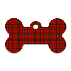 The Clan Steward Tartan Dog Tag Bone (Two Sided)