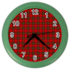 The Clan Steward Tartan Wall Clock (color)