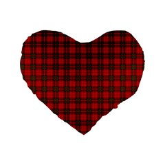 The Clan Steward Tartan 16  Premium Heart Shape Cushion