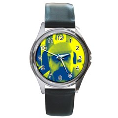 600 By 600 Image Round Metal Watch (silver Rim)