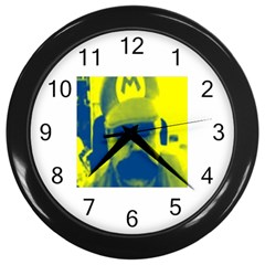 600 By 600 Image Wall Clock (black)