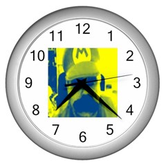 600 By 600 Image Wall Clock (Silver)
