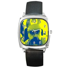 600 By 600 Image Square Leather Watch
