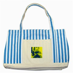 600 By 600 Image Blue Striped Tote Bag