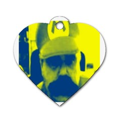 600 By 600 Image Dog Tag Heart (One Sided)