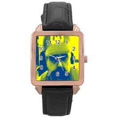 600 By 600 Image Rose Gold Leather Watch