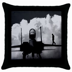 Wing Walk Black Throw Pillow Case