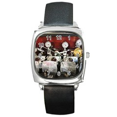Willytrunk Square Leather Watch