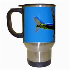 Fly the friendly sky Travel Mug (White)