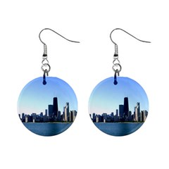 Chicago Skyline Mini Button Earrings