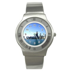 Chicago Skyline Stainless Steel Watch (Unisex)