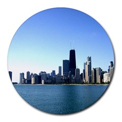Chicago Skyline 8  Mouse Pad (round)