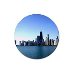 Chicago Skyline Drink Coaster (Round)