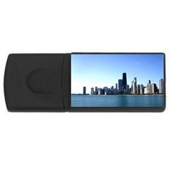 Chicago Skyline 4gb Usb Flash Drive (rectangle)