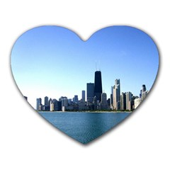 Chicago Skyline Mouse Pad (Heart)