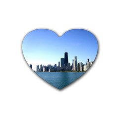 Chicago Skyline Drink Coasters (heart)