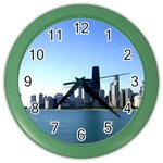 Chicago Skyline Wall Clock (Color) Front