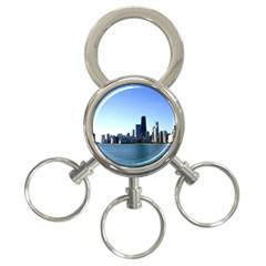 Chicago Skyline 3 Ring Key Chain