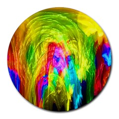 Painted Forrest 8  Mouse Pad (Round)